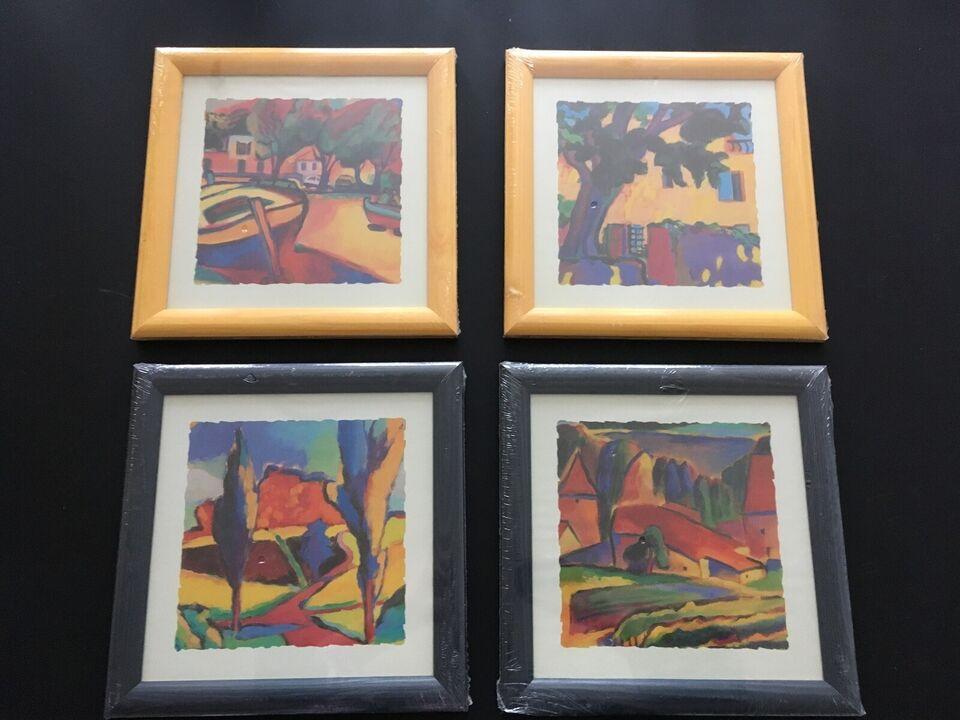 Kvadratiske billeder - 2 stk, Mål : 27 x 27 cm