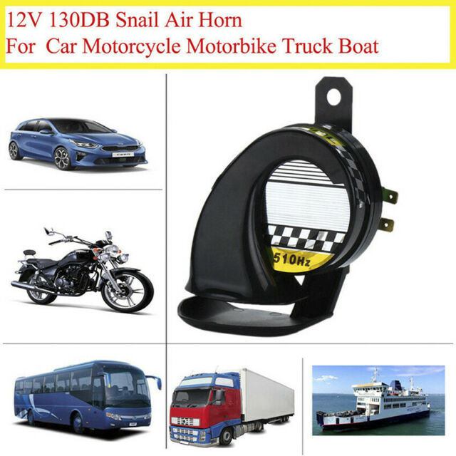 Waterproof Loud Snail Air Horn Siren 130dB For Universal Motorcycle Truck 12V<q