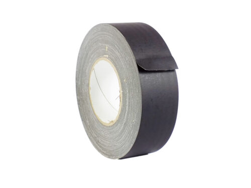 WOD Gaffer Black Gaff Tape 2 inch x 60 yards LOW GLOSS FILM No Residue Strong
