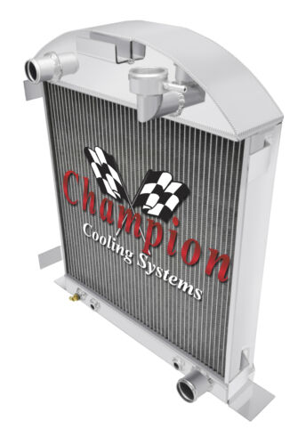 4 Row Perf Champion Radiator for 1928 1929 Ford Model A Chevy Configuration