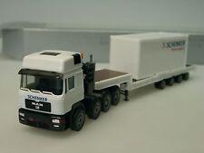 Herpa MAN F2000 SCHENKER Stinnes Logistics Tieflader - 1/87