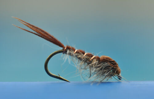 6 Pheasant hare nymph hook size 12. fly fishing flies