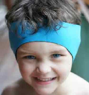 LIGHT BLUE Children's Swimming Ear Band-Protection, Avoid Infection FREE POST.