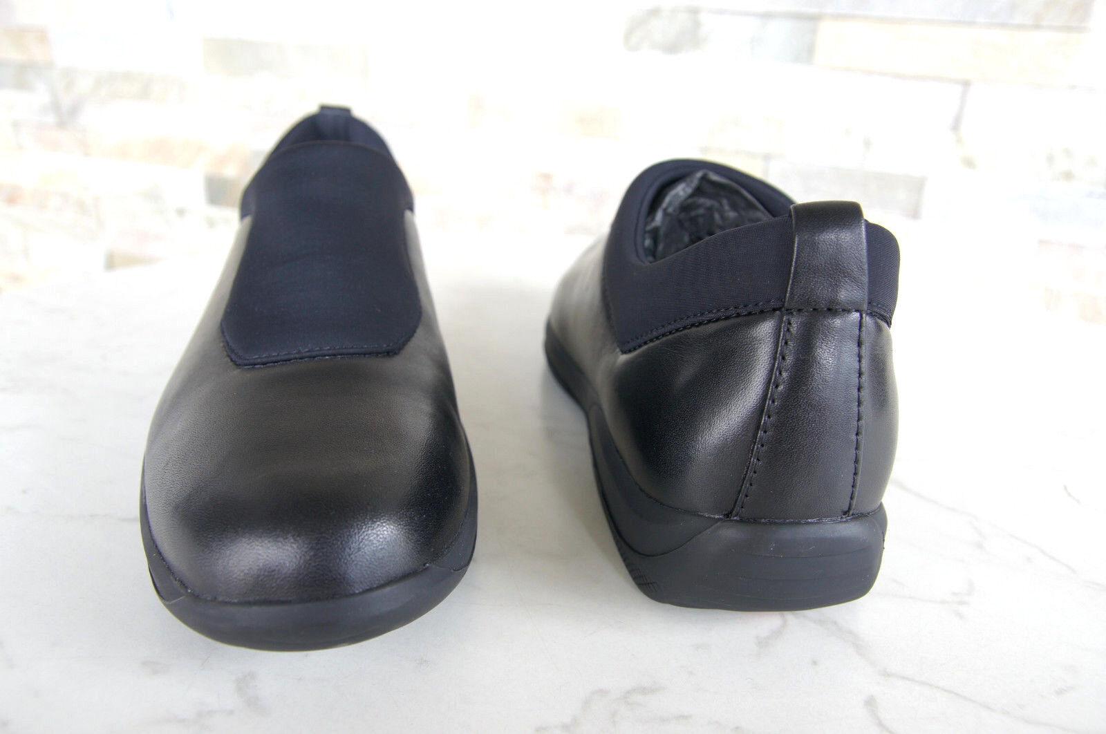 PRADA schwarz Gr 40 Slipper Mokassins Slip-On Halbschuhe Schuhe schwarz PRADA NEU caf535