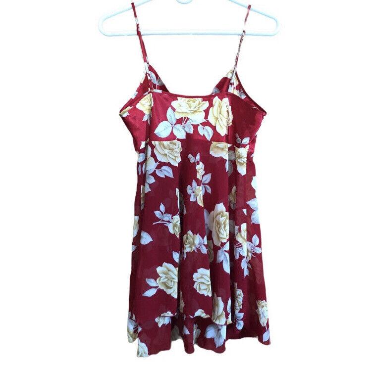 Victoria's Secret Floral Red Lingerie Slip Dress … - image 2