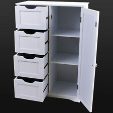Bathroom Storage Unit Cabinet White Shelves Gl Under Sink Basin Wooden