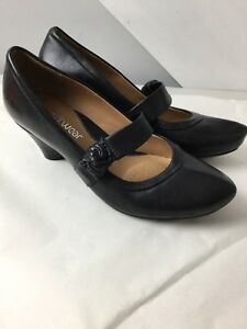 04f41dc9f199c7 Ladies Clarks Black Nubuck Leather Court Shoes. Size 5UK Wide Fit ...