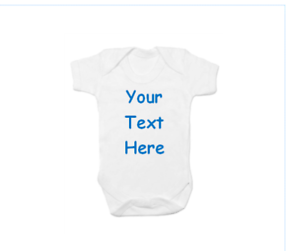 Any Colour Great Baby Shower Gift! Any Text Personalised Baby/'s Vest