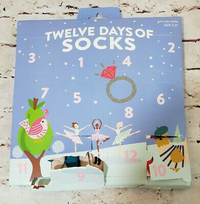 12 Days Of Socks Boys Crew Christmas Advent Calendar Size 2-5T