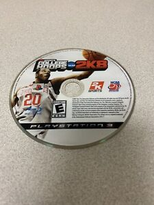 NCAA-College-Hoops-2K8-Sony-PlayStation-3-PS3-Disc-Only-Heavy-Played-Broken