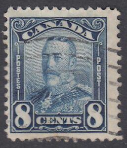 Canada-Scott-154-8-cent-blue-034-KGV-Scroll-034-F