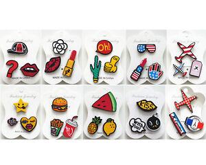 3 tlg Pins Anstecker Button Patches Brosche Blogger Antecknadel Motivauswahl