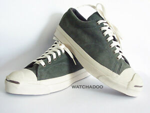 0fe4d99ed137b0 Vintage Converse Jack Purcell Made in USA size 10 Green Suede Low ...
