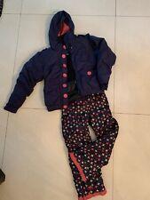 XMNT Boys 2 Pcs Navy Geo Winter Snowsuit Skisuit Jacket Pant Set