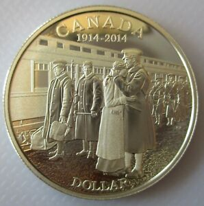 2014-CANADA-100th-ANN-OF-WORLD-WAR-I-PROOF-99-99-SILVER-DOLLAR-COIN