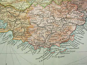 Map Of South East France.Details About 1919 Large Map France South East Var Marseilles Toulon Inset Corsica