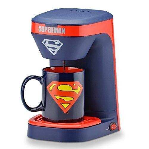 DC Superman Hero Cup Coffee Maker Mug Drink Machine Gift Chrismas Filter Quality