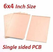 2 Pieces 6inch x 4inch (15cm x 10cm) Copper Clad for PCB making (Single Sided)