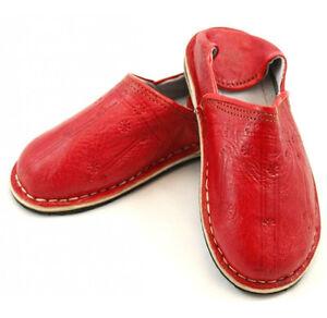 Babouche Marocaine cuir cousues r1 chaussure chausson pantoufle