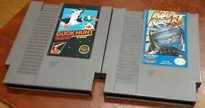Nintendo NES Rad Racer II & Duck Hunt loose carts, cleaned & tested, authentic