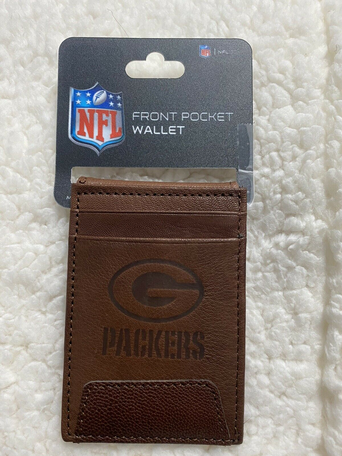 Green Bay Packers Premium Front Pocket Leather Wallet