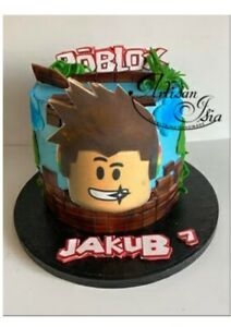 ROBLOX characters ready set personalized ICING WAFER ...