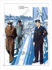 PLANCHE UNIFORMS PRINT WWII Kriegsmarine marine guerre Submarine Torpedo U-Boot
