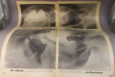 Aussergewöhnliche Globus Ansichten /s153 Bilder & Fotos Glorious 4 Blätter Aus Zeitschrift Von 1939
