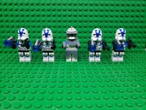 Star-Wars-501st-Captain-Rex-Clone-Trooper-Army-Lot-of-5-Not-Made-by-Lego