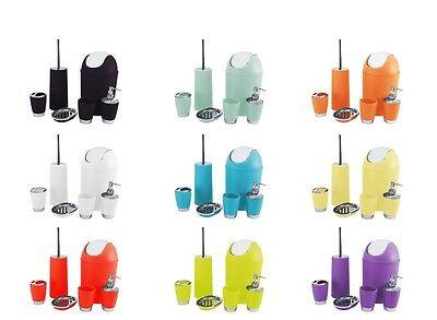 6Pc Bathroom Accessory Set Bin Soap Dish Dispenser Tumbler Toothbrush Holder