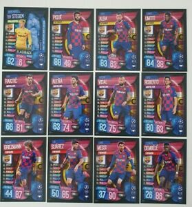 2019-20-Match-Attax-UEFA-Soccer-Cards-Barcelona-Team-Set