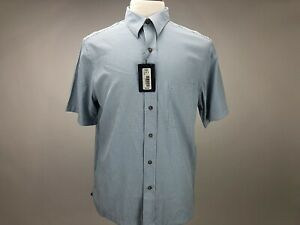 NWT Men/'s Roundtree /& Yorke Button Front Short Sleeve Shirt
