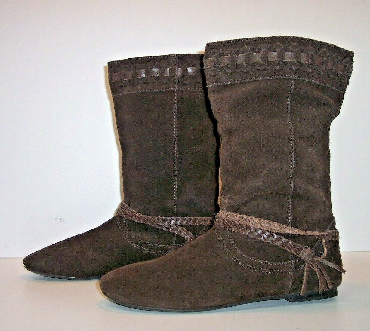 ZODIAC Brown Suede Mid-Calf Casual Boots Women's Size 6.5