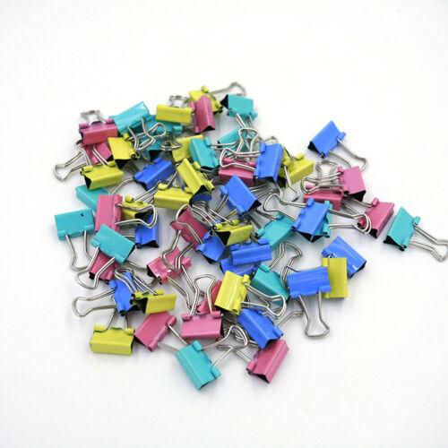 60x Metall Binder Clips für File Paper Notebook Organizer School Office Suppl TG