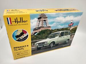 Maquette-a-monter-Renault-4L-GTL-Heller-neuve-echelle-1-24-avec-colle-peintures