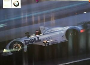 BMW V12 LMR Its A Fast World Factory Original Car Poster Extremely Rare! Own It!