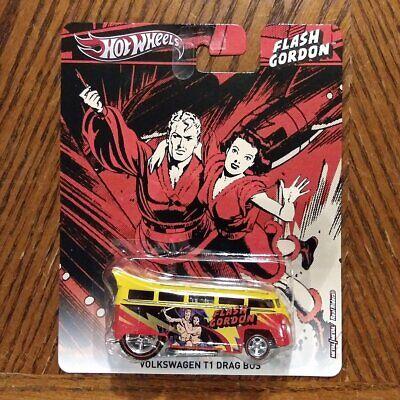 2013 HOT WHEELS FLASH GORDON VW VOLKSWAGEN T1 DRAG BUS HW HOTWHEELS RED//YELLOW