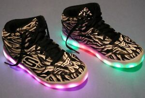 Skechers Energy Lights USB Leather