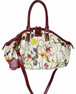 NEW-TANYA-TOTE-BAG-WITH-GENUINE-LEATHER-TRIM-RED-FLORAL