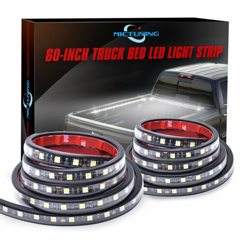 "MICTUNING 2Pcs 60/"" LED Cargo Truck Bed Light Strip Lamp Lighting Kit Waterproof"