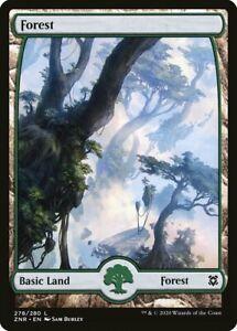 Magic the Gathering (mtg): ZNR: Zendikar Rising Full Art Land set x4