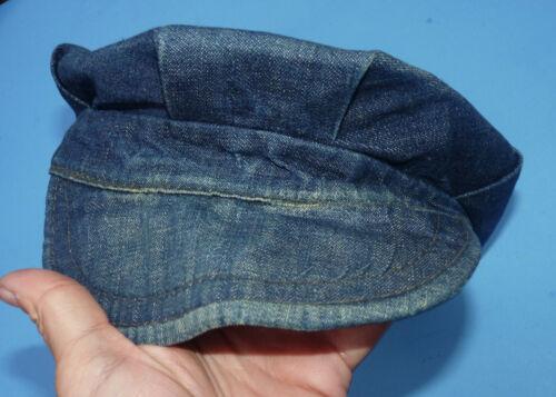 Vintage 1930s jeans Denim Train Man Cap Hat