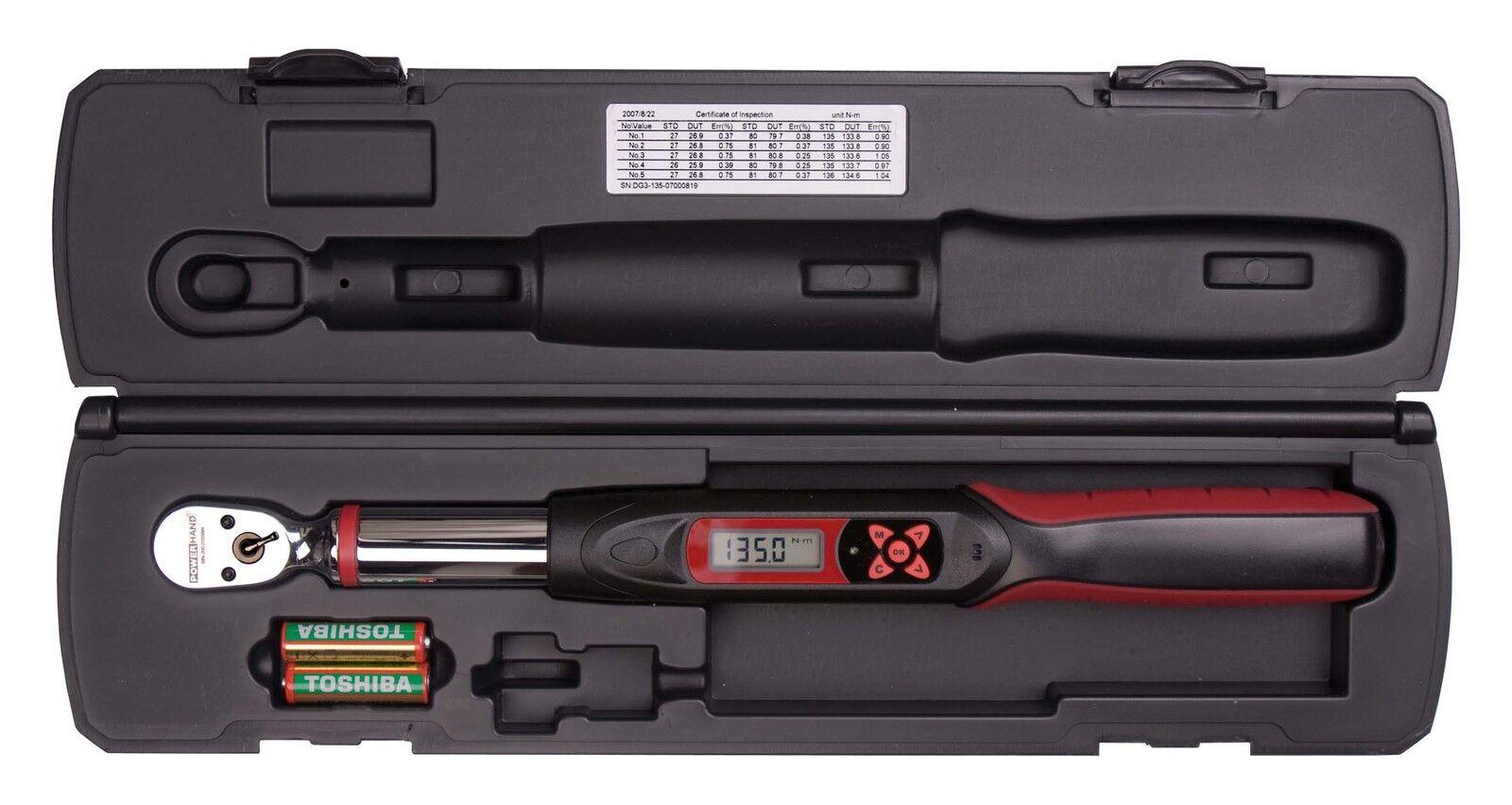 Powerhand Drehmomentschlüssel Digital 6-30 Nm 1/4