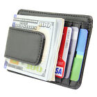 Men's Leather Slim Front Pocket Wallet ID Credit Card Holder Magnetic Money Clip