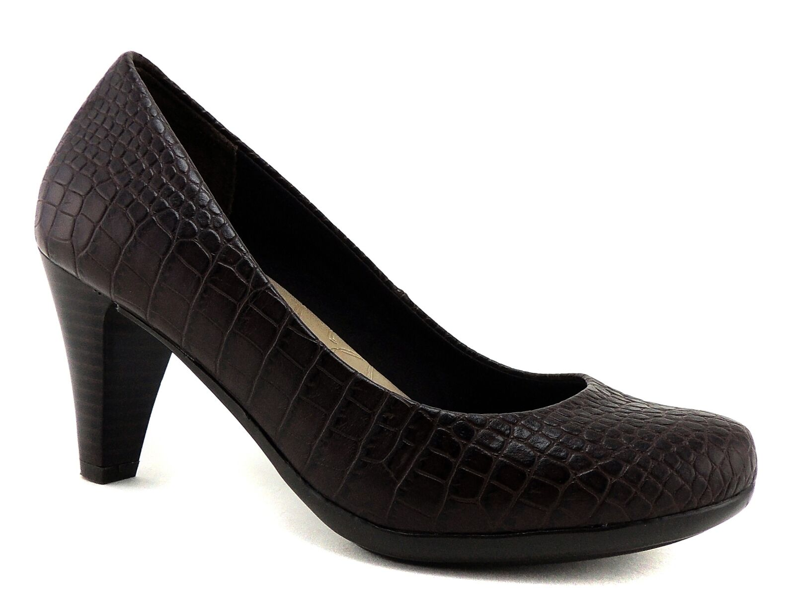 Giani Bernini Women's Sweets Pumps Brown Croco Print Shoes Size 5.5 (B, M)