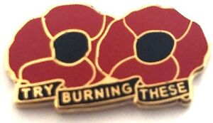POPPY TRY BURNING THESE PIN BADGE