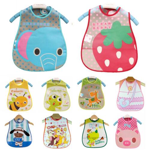 Baby Kleinkind Neugeborenes Lätzchen Wasserdicht Ärmellos Spucktücher Handtuch