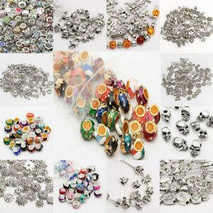 Lots-Wholesale-Tibet-Silver-Beads-Spacer-For-Jewelry-Making-European-Bracelets