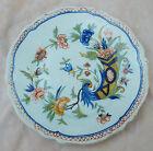 Vintage plate Fourmaintreaux decor style horn Desvres @