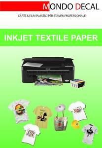 Alerte Carta Transfer Per Tessuti Chiari: 5 Fogli A4 Stampa Inkjet